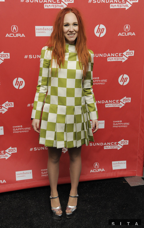 Juno Temple wearing Spring 2013 Louis Vuitton